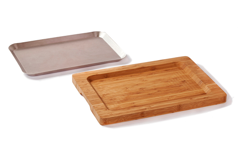 bamboo chopping board and stainless steel tray_5